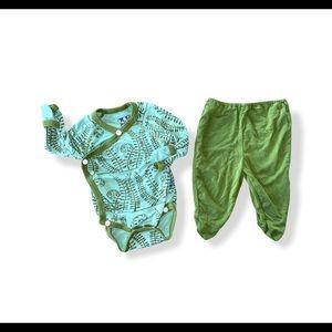 Kickee pants Footsie baby set